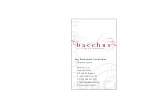 BACCHUS_vizitka